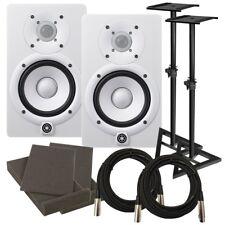 """Yamaha HS5 5"""" Powered Studio Monitor Speaker - White STUDIO KIT"""