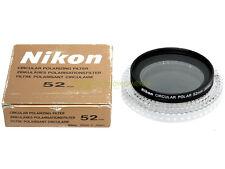 52mm. filtro Polarizzatore Nikon con custodia e box originali.