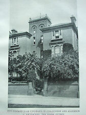 ANTIQUE PRINT C1910 RESIDENCE OF THEODORE WATTS-DUNTON THE PINES PUTNEY PHOTO