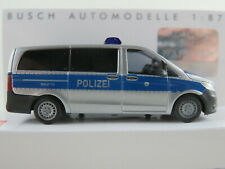 """Busch 51125 MB Vito (2016) """"Bereitschaftspolizei Hessen"""" 1:87/H0 NEU/OVP"""