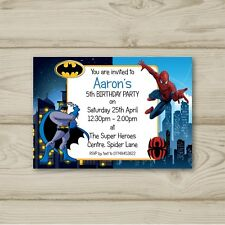 BIRTHDAY PARTY INVITATIONS Minion Superhero Personalised Ticket Style