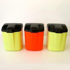 3 Boîtes Publicitaires plastique - SUCHARD - 2 jaunes et  1 Orange - Vintage 70