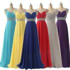 Plus Women Long Party Bridesmaid Chiffon Dresses Formal Mother of the Bride Gown