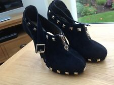 Ladies Stylish Suede Black Shoes (I love Model girl) size UK 5