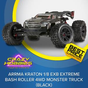 Arrma Kraton 1/8 EXB EXtreme Bash Roller 4WD Monster Truck (Black) *IN STOCK*
