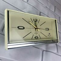 Vintage 60s Tokyo 1612 Mechanical Space Age Musical Alarm Clock Faceplate Part