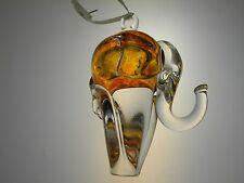 New Day Glass Studio Hand Blown Art Glass Elephant Ornament #27