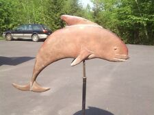 Antique Dolphin Fish Nautical Copper Weathervane Weather Vane