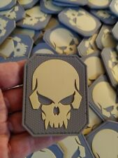 VAMPIRE PUNISHER  SKULL  MORALES - AIRSOFT - TACTICAL 2D PVC PATCH - COYOTE