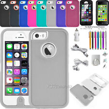 For iPhone 5S SE 5C 5 Phone Case Hybrid Shockproof Armor Hard Cover Accessories