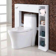 Wooden Bathroom Over the Toilet Tank Storage Shelves Cabinet Organizer Rack US