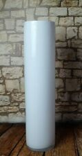 glass large conical floor cylinder vase  50cm/20inch white centrepiece decor