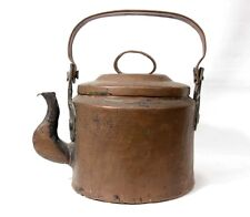 Antique Arts and Crafts style Hammered Copper Tea Pot Kettle