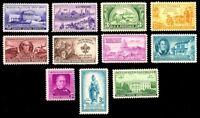 1950 Year Set of 11 Commemorative Stamps Mint NH - Stuart Katz