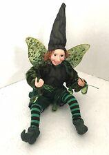 Whimsical Shamrock Irish Theme Fairy Doll Posable Fairy Elf Doll 9�