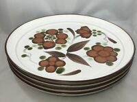 """Set of 4 Noritake Folkstone ORINDA 8540 Dinner Plates 10 3/8"""""""
