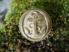 Ancien bouton décor ancre de Marine , militaire ...