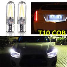 2Pcs T10 194 168 W5W COB LED Coche Vidrio Placa Bombilla 12V -24V Blanco