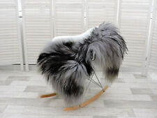 AMAZING REAL ICELANDIC SHEEPSKIN RUG SINGLE GREY/BLACK/BROWN, 230