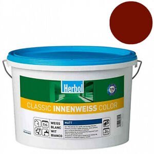 "Herbol Classic Innenweiß Color 12,5l ""Ochsenblutrot"" Innenfarbe Wohnraumfarbe"