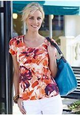 Geblümte figurbetonte hüftlange Damenblusen, - tops & -shirts für die Freizeit