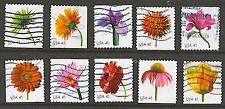 Scott #4176-85 Used Set of 10, Bklt. Beautiful Blooms