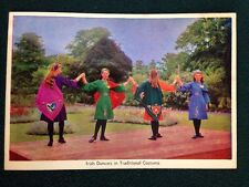 Postcard Irish Dancers in Traditional Costume Cardall LTD Dublin Ireland