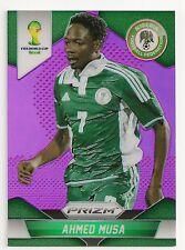 2014 #154 AHMED MUSA - Nigeria - Panini Prizm WC14 - Purple #15/99