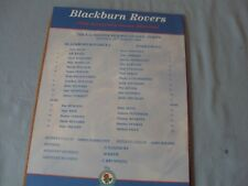 BLACKBURN ROVERS V EVERTON-FA PREMIER RESERVE LEAGUE SINGLE SHEET PROGRAMME