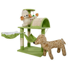 "Cat Tree Tower Condo Furniture Scratch Post Kitty Pet House Play 32"" Green"