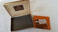 Vintage Bulova Accutron Quartz Watch Case Box & Owners Guide and Warranty #2423