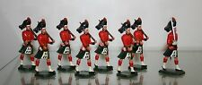 BRITISH HIGHLANDER MARCHING  #52A  PAINTED WHITE MEATAL ALLOY 54MM