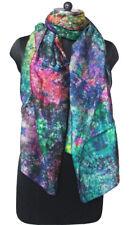 Indian Silk Sari Tie Dye Scarf Wrap Dupatta Women Fashion Scarves Wholesale 5 Pc