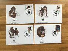 EQUATORIAL GUINEA 1991 FDC x 4 WWF MONKEYS MANDRILL