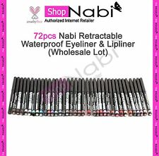 72pcs Nabi Retractable Waterproof Eyeliner  Lipliner Wholesale Lot _cruelty Free