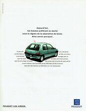 Publicité Advertising 1019 1994  Peugeot  la 106 Green