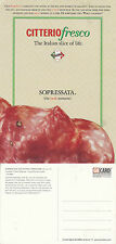 CITTERIO FRESCO SOPRESSATA UNUSED ADVERTISING COLOUR  POSTCARD