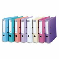 10 x Exacompta Lever Arch File 70 mm Spine PVC Plastic Assorted Pastel Colours