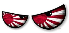 Pair Of ANGRY EVIL Eyes Eye Rising Sun Japan Flag car Motorbike Helmet Sticker
