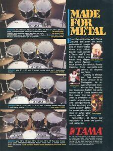 1987 Print Ad of Tama Swingstar Drum Kit w Dave Holland, Wild Mick Brown