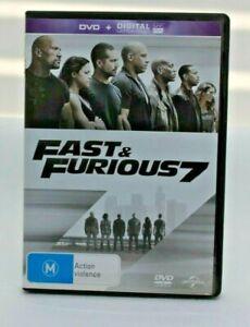 Fast & Furious 7 DVD Vin Diesel Paul Walker Free Postage