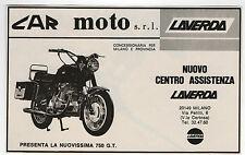 Pubblicità 1973 MOTO LAVERDA 750 GT CAR MOTOR advert werbung publicitè reklame