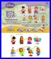 TOMY Set 8 Figuras Winnie Pooh Circo Circus Edición Raro Mini Winnies Colgantes