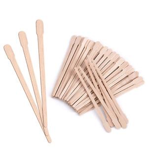 200 Pack Wooden Wax Sticks Eyebrow Lip Nose Small Waxing Applicator Sticks Hair