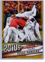 Texas Rangers 2020 Topps Decades Best 5x7 Gold #DB-89 /10 Rangers