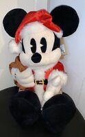 Peluche Mickey Père Noël 15 Pouces - Disney