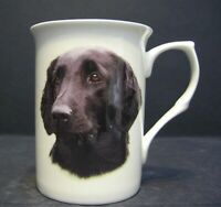 Flat Coat Retriever Dog (Head B/F) Fine Bone China Mug Cup Beaker