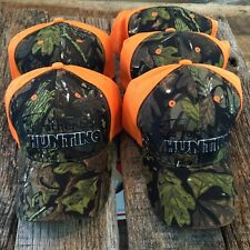 """DEALERS 5 LOT """"I'D RATHER BE HUNTING"""" Baseball Caps Adjustable NEW HAT 238 -w"""