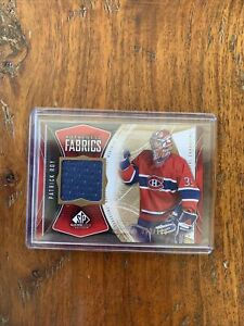 Patrick Roy 2009-10 Authentic Fabrics Game Used Swatch 82/100 Montreal Canadians