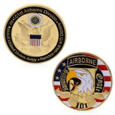 Golden USA 101st Airborne Division Commemorative Challenge Collection Coin Gift